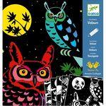 ΑνDjeco Ζωγραφική σε μαύρο φόντο 'Το δάσος' Κωδικός: 09623αλυτική περιγραφή Μόλις πέσει η νύχτα στο δάσος, τα ζωάκια με τα πιο όμορφα χρώματα εμφανίζονται μπροστά σας! Η συσκευασία περιλαμβάνει 5 βελουτέ καρτέλες τις οποίες μπορείτε να τις χρωματίσετε. Κατασκευή για παιδιά 4-8 ετών. Διαστάσεις καρτέλας: 22x23 εκ.  Ηλικία Από 6 μέχρι 9 ετών   Διαστάσεις Π230 x Y10 x Β220 χιλ.\\\\\\\\\\\\\\\\\\\\\\\\\\\\\\\\\\\\\\\