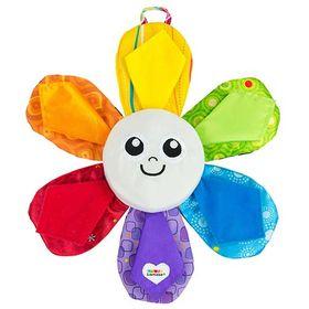 Παιχνίδι δραστηριοτήτων με όμορφα, έντονα χρώματα που θα κρατήσουν το μωρό απασχολημένο. Κάθε πέταλο της Lucie κρύβει και ένα φωτιζόμενο χρώμα. Με την πίεση δύο πετάλων συγχρόνως ανακατεύονται τα χρώματα σε νέους συνδυασμούς. Οι ήχοι κροταλίσματος & τριξίματος αλλά και πολλές διαφορετικές υφές τραβούν την προσοχή του μωρού και μεγαλώνουν την περιέργεια του. Είναι ειδικά φτιαγμένο ώστε να μπορούν να το κρατήσουν μικρά χεράκια και είναι απόλυτα ασφαλές στο δάγκωμα!  Περιλαμβάνονται οι μπαταρίες: 3 Χ ΑΑΑ Διαστάσεις: 30.5 x 31.7 x 5 cm Ηλικία: 6 μηνών+