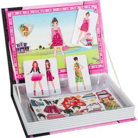 Μαγνητικό βιβλίο πάζλ φορέματα 8 κάρτες 65 μαγνητάκια